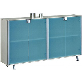 Sapphire Low Glass Door Cupboards £923 - Office Desks