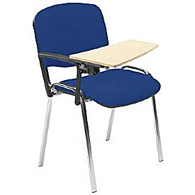 Chrome Conference Chair With Beech Writing Tablet (Pack of 4) £54 - Office Chairs