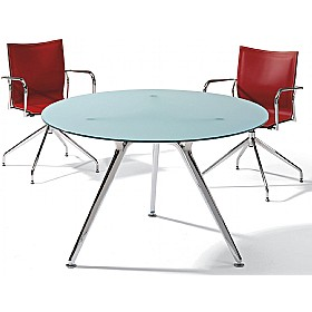 Sapphire Round Glass Meeting Table Sapphire Round Meeting Tables - Round glass conference table