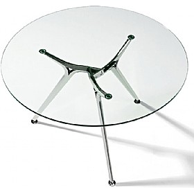Sapphire Round Glass Meeting Table