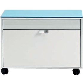 Sapphire Side Filing Unit With Glass Top