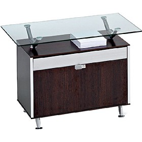 Sapphire Side Filing Unit With Glass Shelf £712 - Office Desks