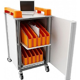 LapCabby Connect Mini 20V - 20 Vertical Laptop Store and Charging Trolley £1434 - Office Cupboards