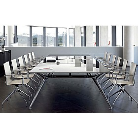 Sapphire Wide A-Frame Rectangular Glass Boardroom Tables £3653 - Office Desks