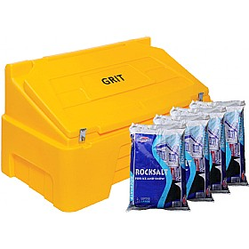 400 Litre Grit Bin & Rock Salt Bundle £340 - Premises Management