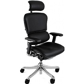 Ergohuman Plus Leather Office Chair (With Headrest) £734 - Office Chairs