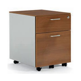 Sapphire Two Tone Wood and Steel Pedestals £378 - Office Desks