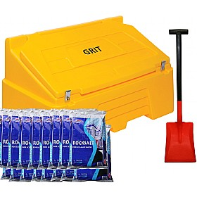 400 Litre Grit Bin with Rock Salt & Shovel £340 - Premises Management