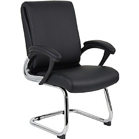 Capulet Enviro Leather Faced Cantilever Chair £157 - Office Chairs