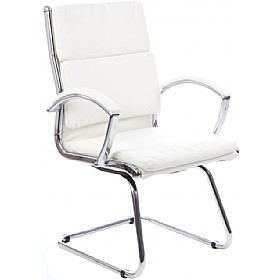 Formosa Enviro Leather Cantilever Chair White £211 - Office Chairs