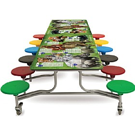 Smart Top Themed Rectangular Mobile Dining Units £0 - Education Furniture