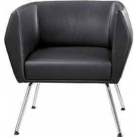 Sven HB1L 4 Leg Leather Reception Chairs £595 - Reception Furniture