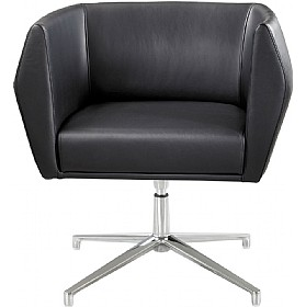 Sven HB1A 4 Star Base Leather Reception Chairs £590 - Reception Furniture