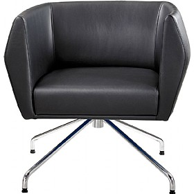 Sven HB1S Spyder Base Leather Reception Chairs £620 - Reception Furniture