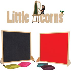 Little Acorns Solid Wood Framed Partition Screens £176 - Education Furniture