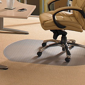 Low Pile Carpet PVC Chair Mat Contoured £37 - Office Chairs