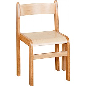 Natural Wooden Stacking Chairs (Pack of 2) £0 - Education Furniture
