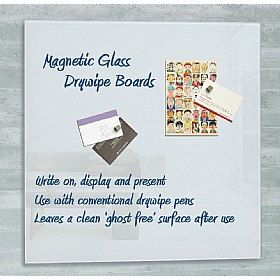 Square Magnetic Glass Drywipe Boards £76 - Display/Presentation