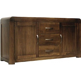 Hampshire Solid Walnut Large Sideboard £623 - Home Office Furniture