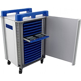 TabCabby - 32 Horizontal Tablet Store & Charging Trolley £811 - Office Cupboards
