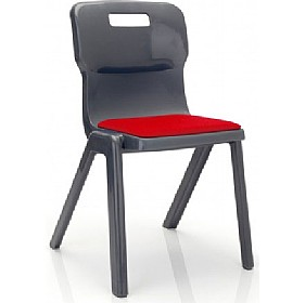Titan One Piece Classroom Chair With Seat Pad £0 - Education Furniture