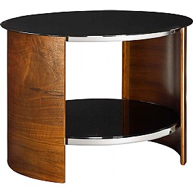Spectrum Real Wood Veneer Round Occasional Table Walnut £266 - Reception Furniture