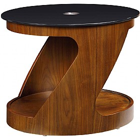 Spectrum Real Wood Veneer Oval Occasional Table Walnut £213 - Reception Furniture