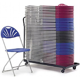 Fan Back Folding Chair Trolley £120 - Office Chairs