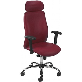 Indiana Leather Manager Chair £284 - Office Chairs