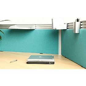 Zone Straight Desktop Screens With Rail £125 - Office Screens