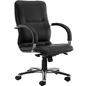 Star Leather Faced Low Back Manager Chair £292 - Office Chairs