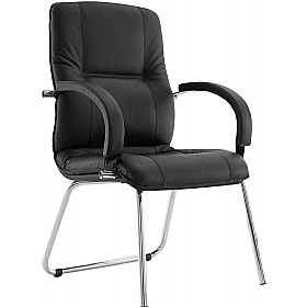 Star Leather Faced Visitor Chair £227 - Office Chairs