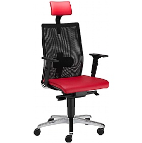 Intrata Manager Mesh Back Chair With Headrest £261 - Office Chairs
