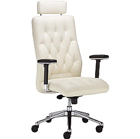 Chester Executive Leather Chair With Headrest £407 - Office Chairs