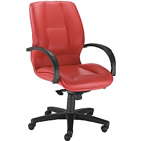Formula Executive Low Back Leather Chair £405 - Office Chairs