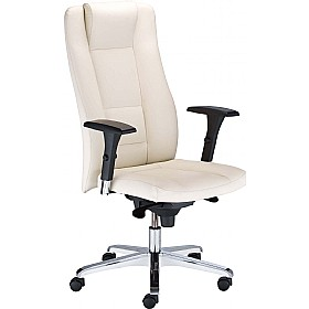 Invitus Executive Leather Faced Chair £284 - Office Chairs