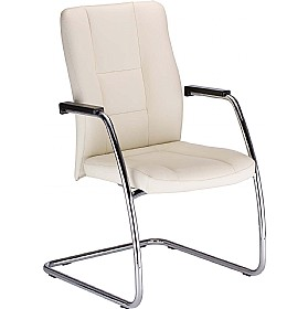 Invitus Leather Faced Visitor Chair £217 - Office Chairs
