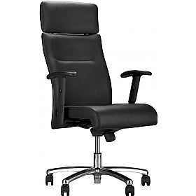 Neo Lux Leather Faced Executive Chair £291 - Office Chairs