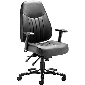 Katmai Deluxe Enviro Leather Faced Chair £245 - Office Chairs