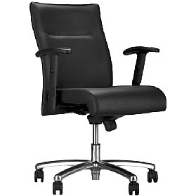 Neo Lux Leather Faced Low Back Executive Chair £279 - Office Chairs