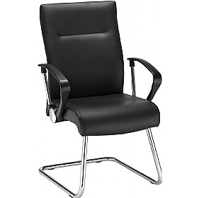 Neo Lux Leather Faced Cantilever Visitor Chair £155 - Office Chairs