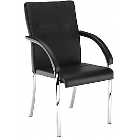 Neo Lux Leather Faced 4 Leg Visitor Chair £166 - Office Chairs