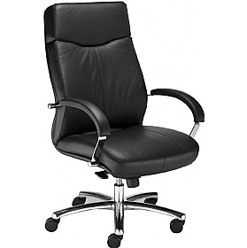 Rapsody Executive Leather Faced Chair £283 - Office Chairs