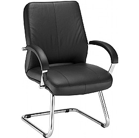 Rapsody Leather Faced Visitor Chair £220 - Office Chairs