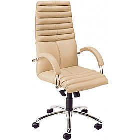 Galaxy High Back Executive Leather Chair £347 - Office Chairs