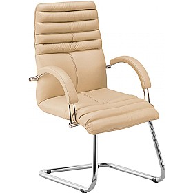 Galaxy Executive Leather Visitor Chair £265 - Office Chairs
