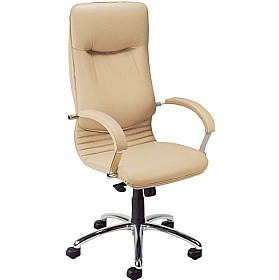 Nova High Back Executive Leather Faced Chair £271 - Office Chairs
