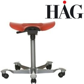 HAG Capisco Puls 8001 Stool Red £204 - Office Chairs