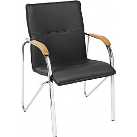 Samba Leather Faced Visitor Chair £97 - Office Chairs