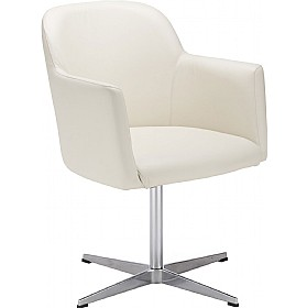 Athena Leather Faced Reception Chair £274 - Reception Furniture